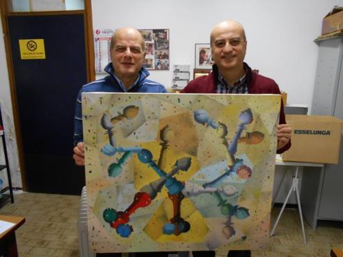 """""""Opera """"Bishop"""" donata al circolo dal Socio e pittore Giuseppe Novì"""""""